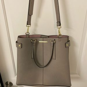 ✨NWOT Steve Madden Gray Leather Tote Shoulder Bag